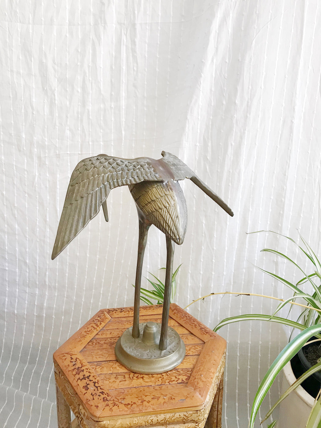 Large Brass Crane Statues | Storytellers Workshop
