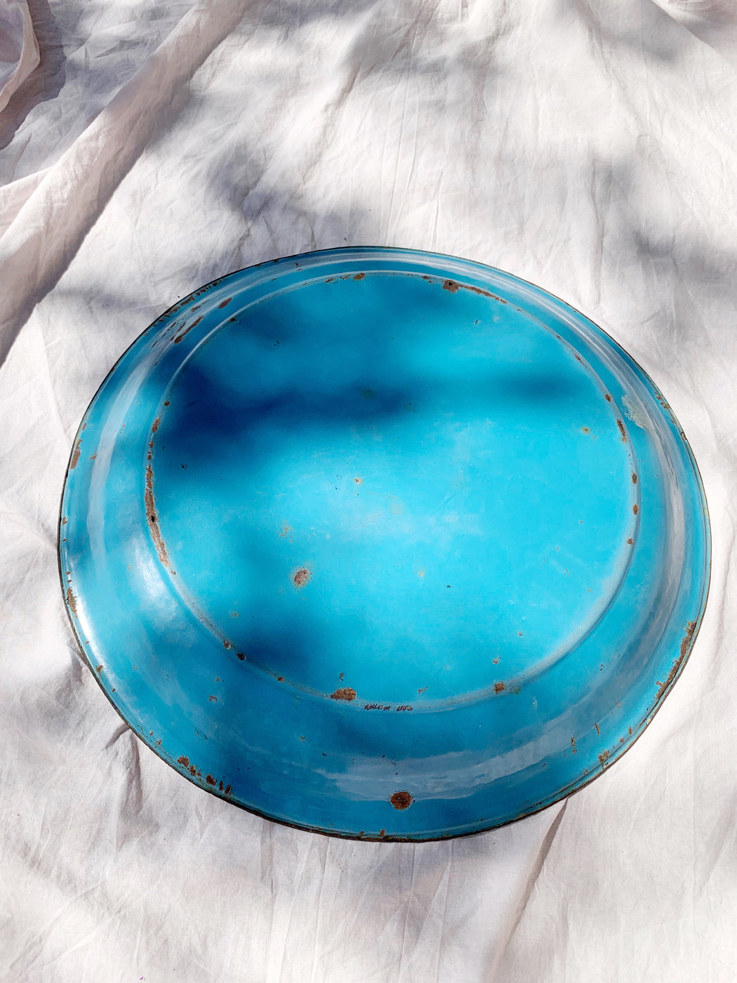 Rustic Blue Enamel Tray with Humming Birds | Storytellers Workshop