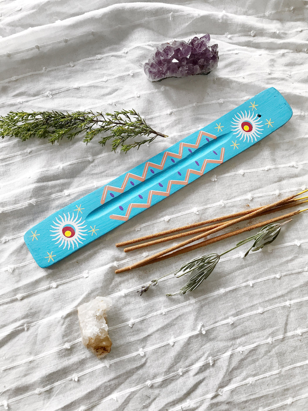 Blue Sun Wooden Incense Burner - Storytellers Workshop
