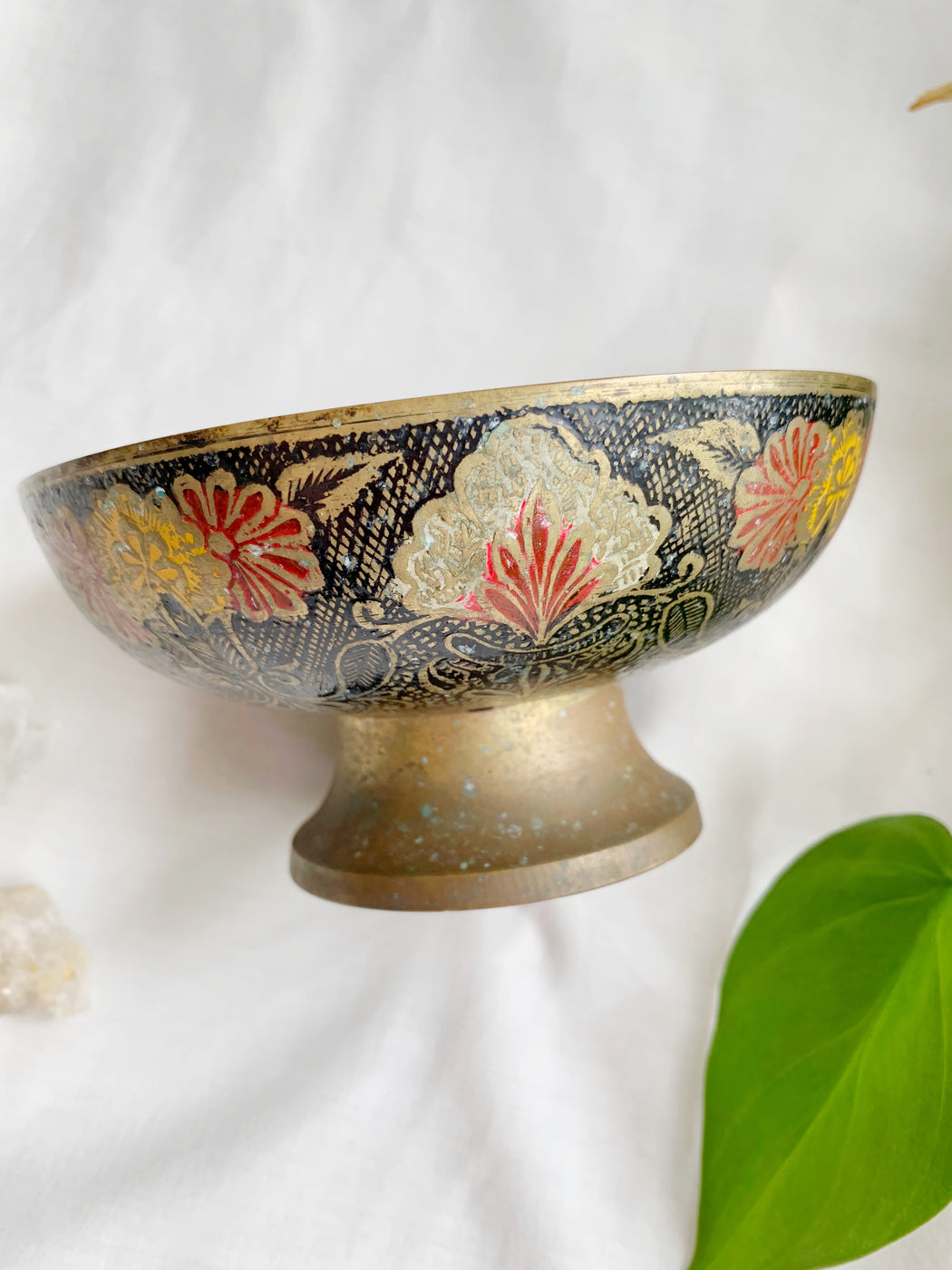 Coloured Brass Bowl