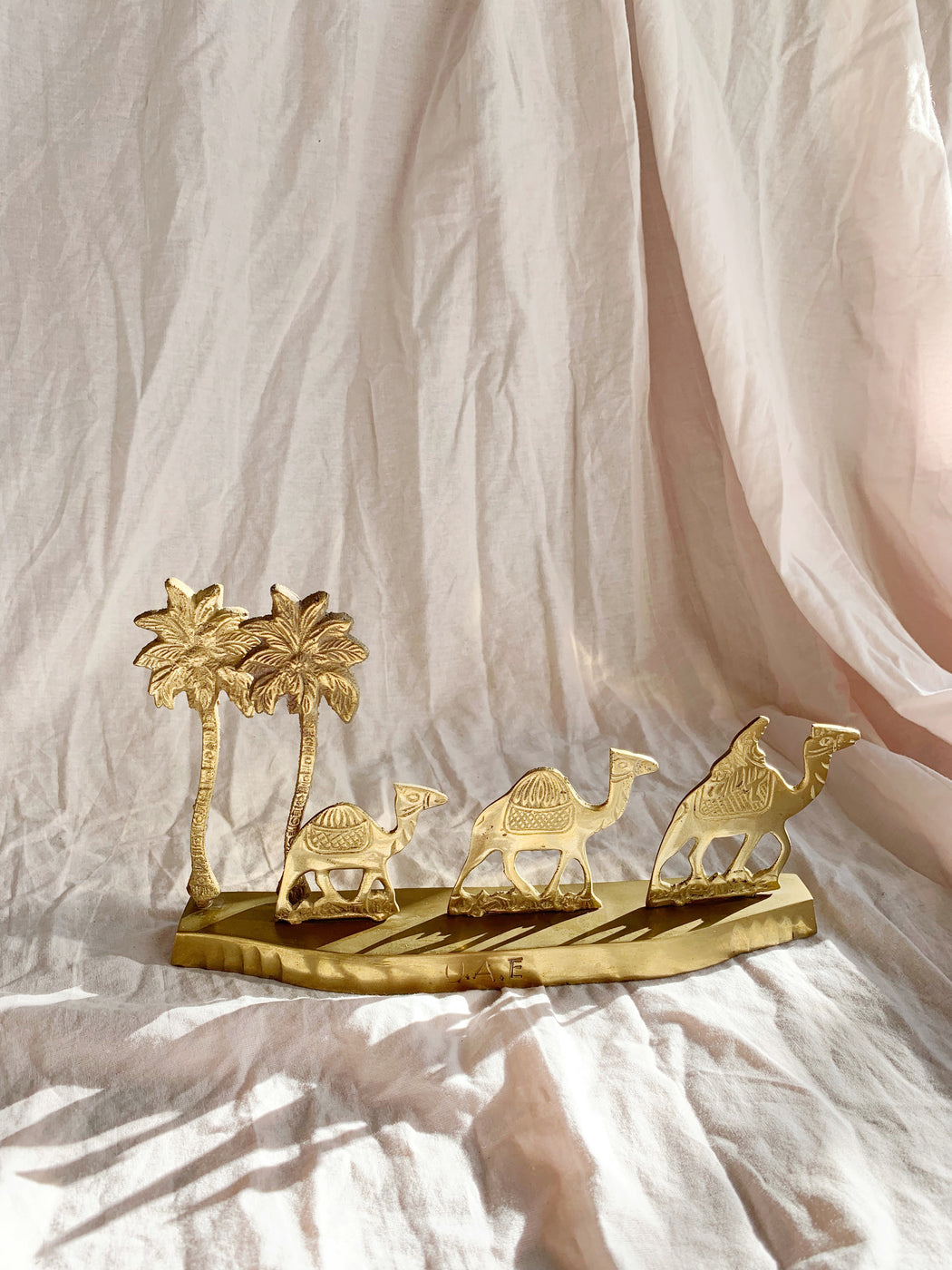 Brass Camels and Palm Trees
