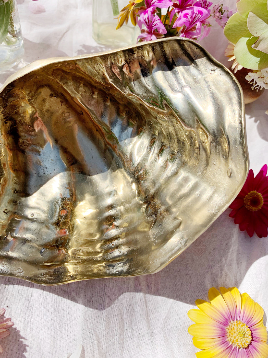 Small Brass Clam Shell Bowl | Storytellers Workshop