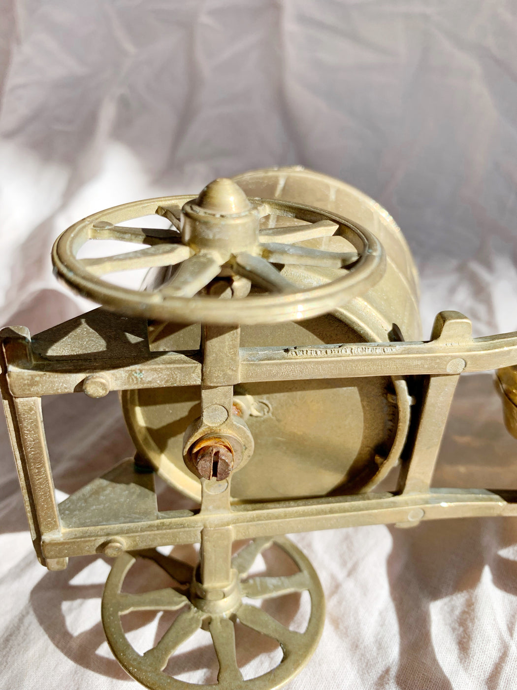 Brass Horse and Cart Ornament - Storytellers Workshop