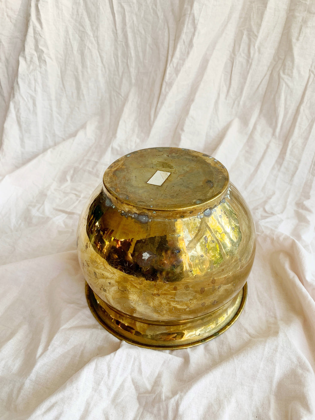 Medium Brass Pot