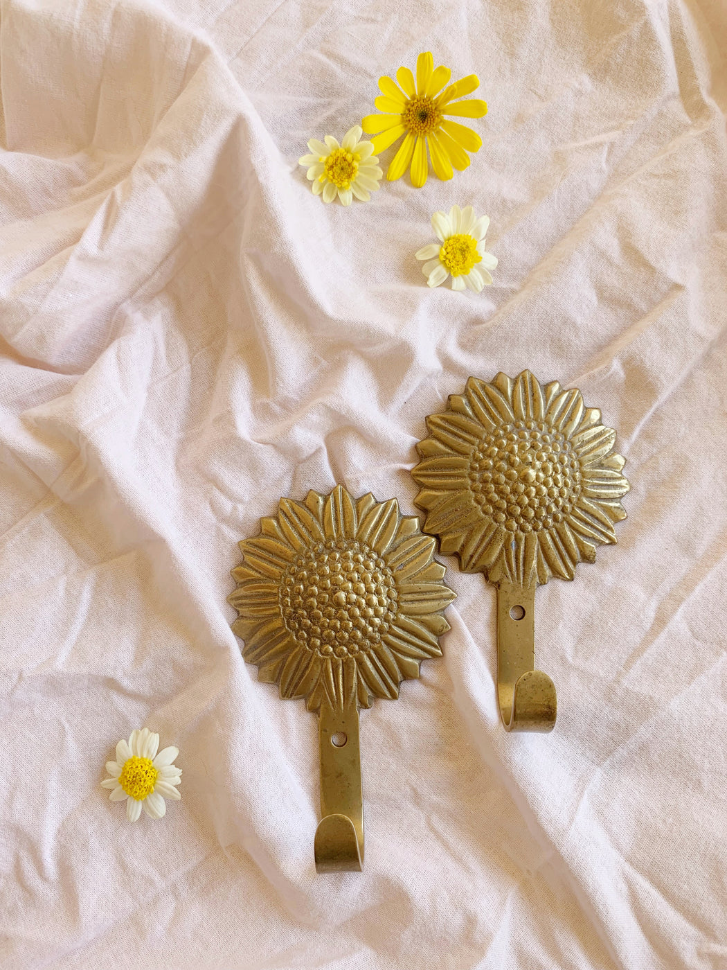 Brass Sunflower Hooks