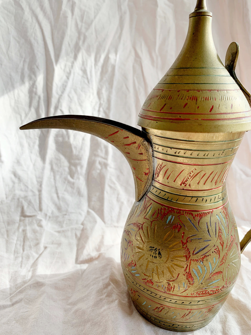 Brass Turkish Coffee Pot - Storytellers Workshop