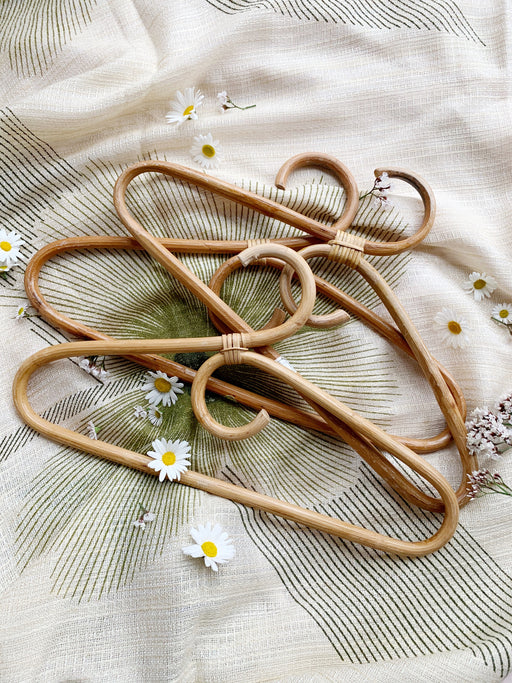 Set of Three Cane Coat Hangers