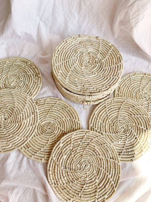 Set of Six Placemats in a Round Lidded Box