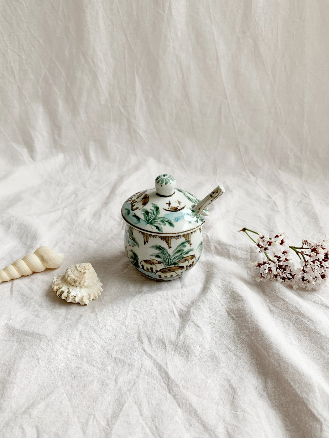 Small Mustard Jar with Spoon | Storytellers Workshop