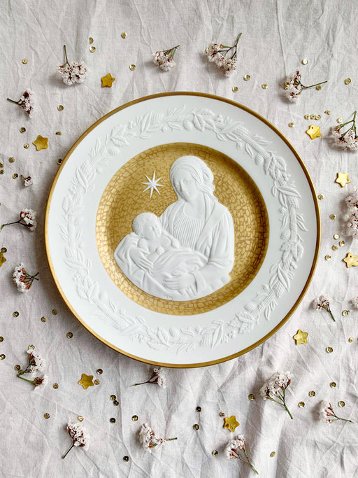 Mary and Jesus Christmas Porcelain Plate | Storytellers Workshop