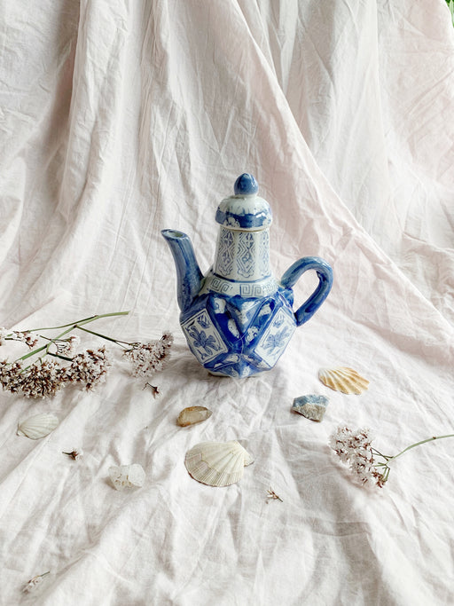 Blue and White Chinese Ceramic Teapot
