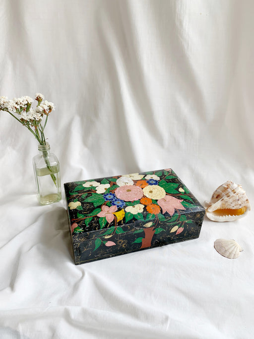 Colourful Floral Wooden Box