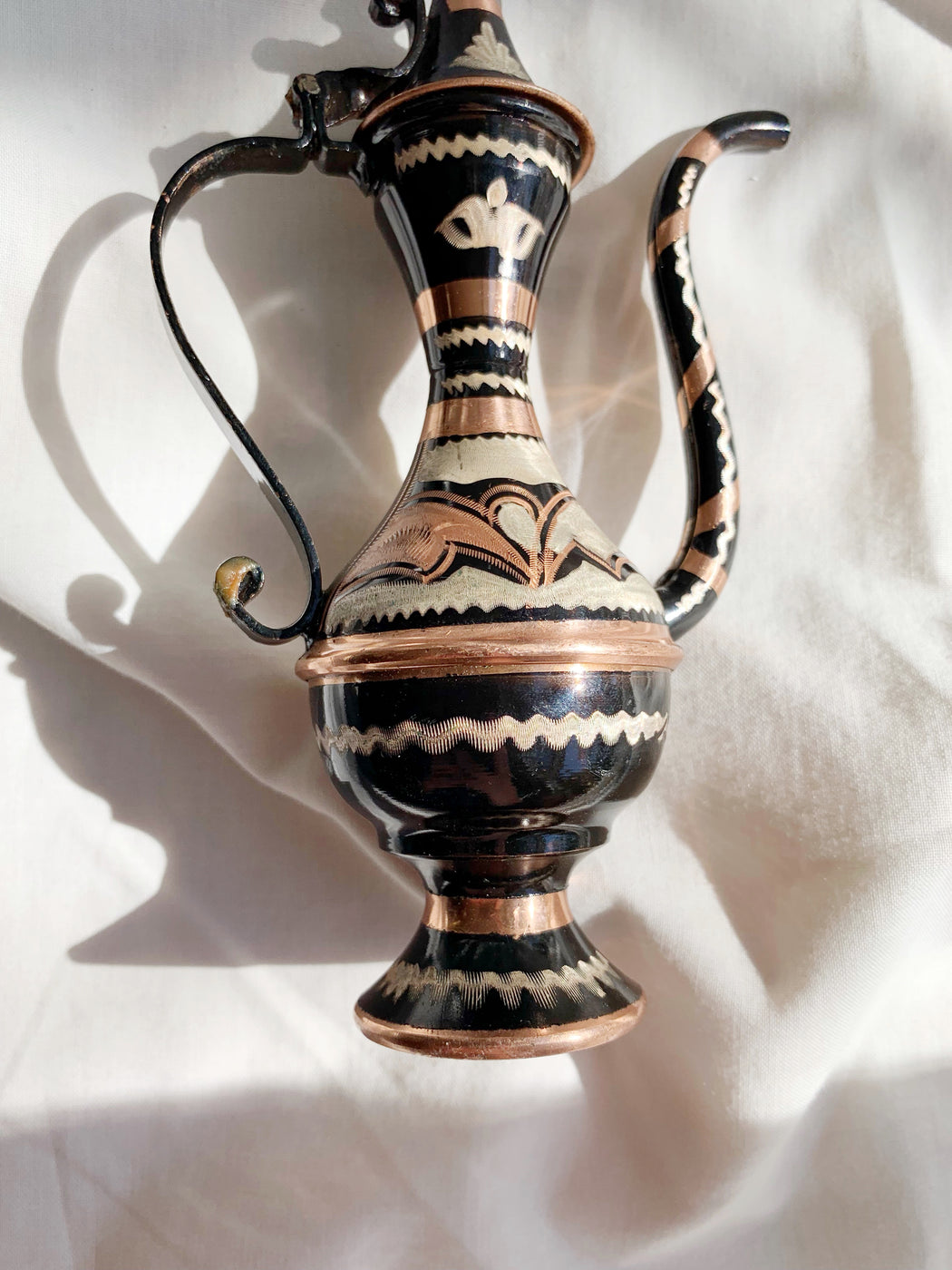 Small Etched Copper Turkish Coffee Pot | Storytellers Workshop