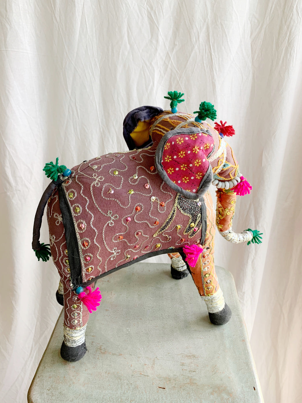 Fabric Patchwork Indian Elephant Ornament Storytellers