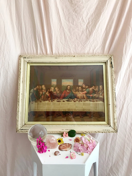 Vintage Framed Jesus The Last Supper Print | Storytellers Workshop