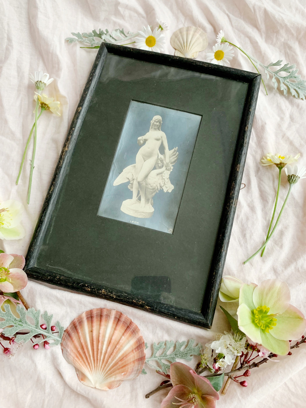 Early 1900's Leda and the Swan Print
