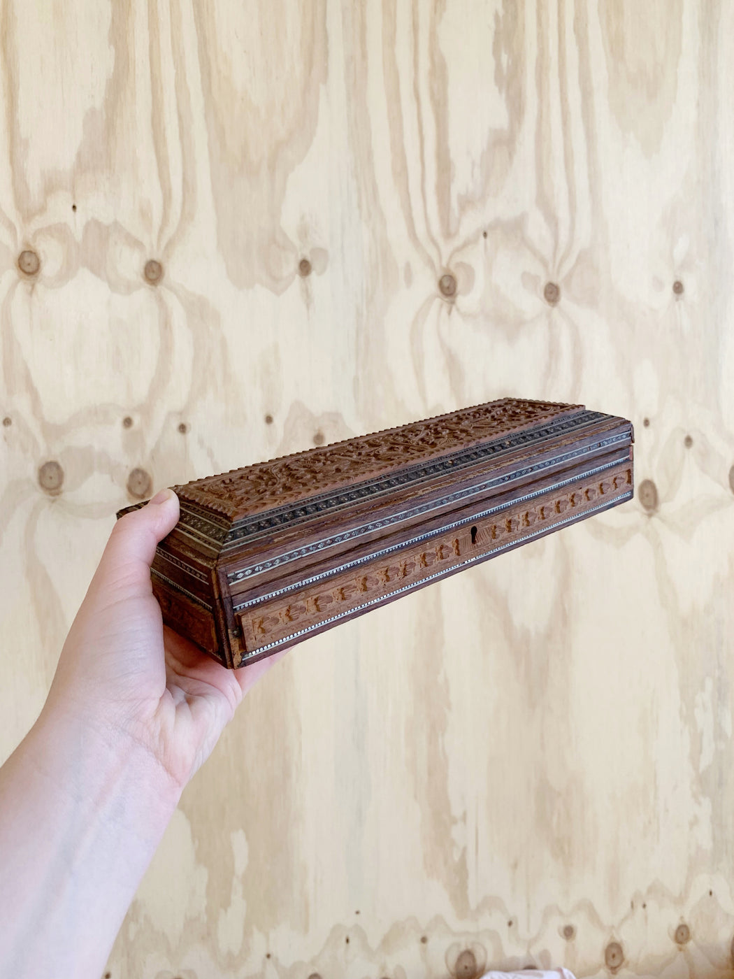 Indian Hand-Carved Wooden Box | Storytellers Workshop