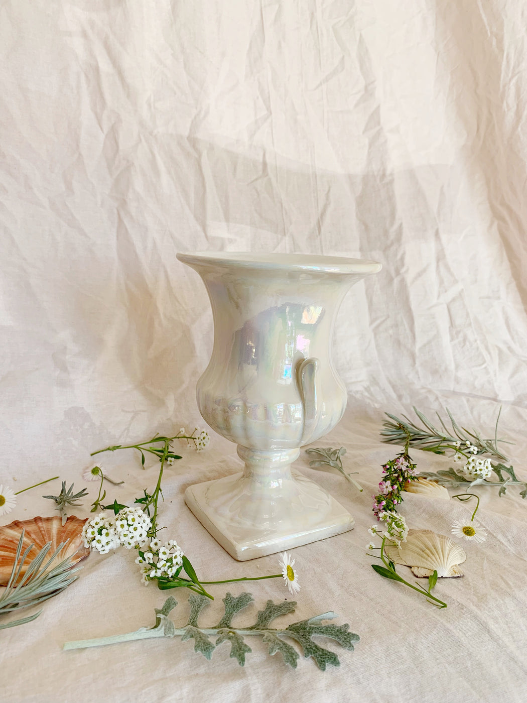 Ceramic Iridescent Vase