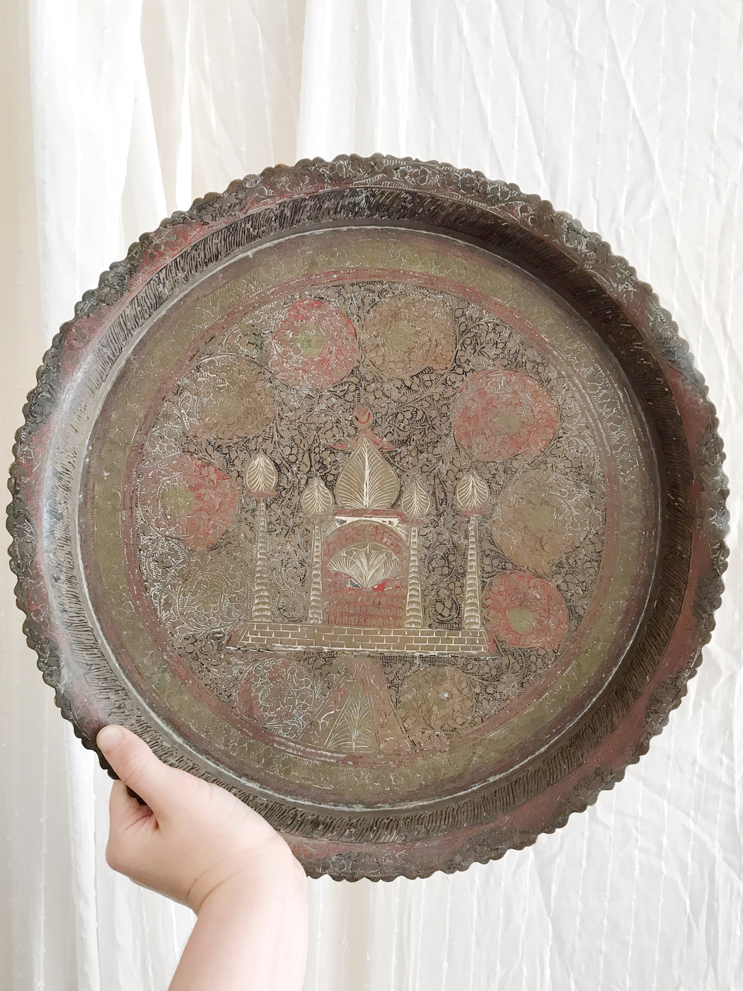 Large Brass Plate Tray