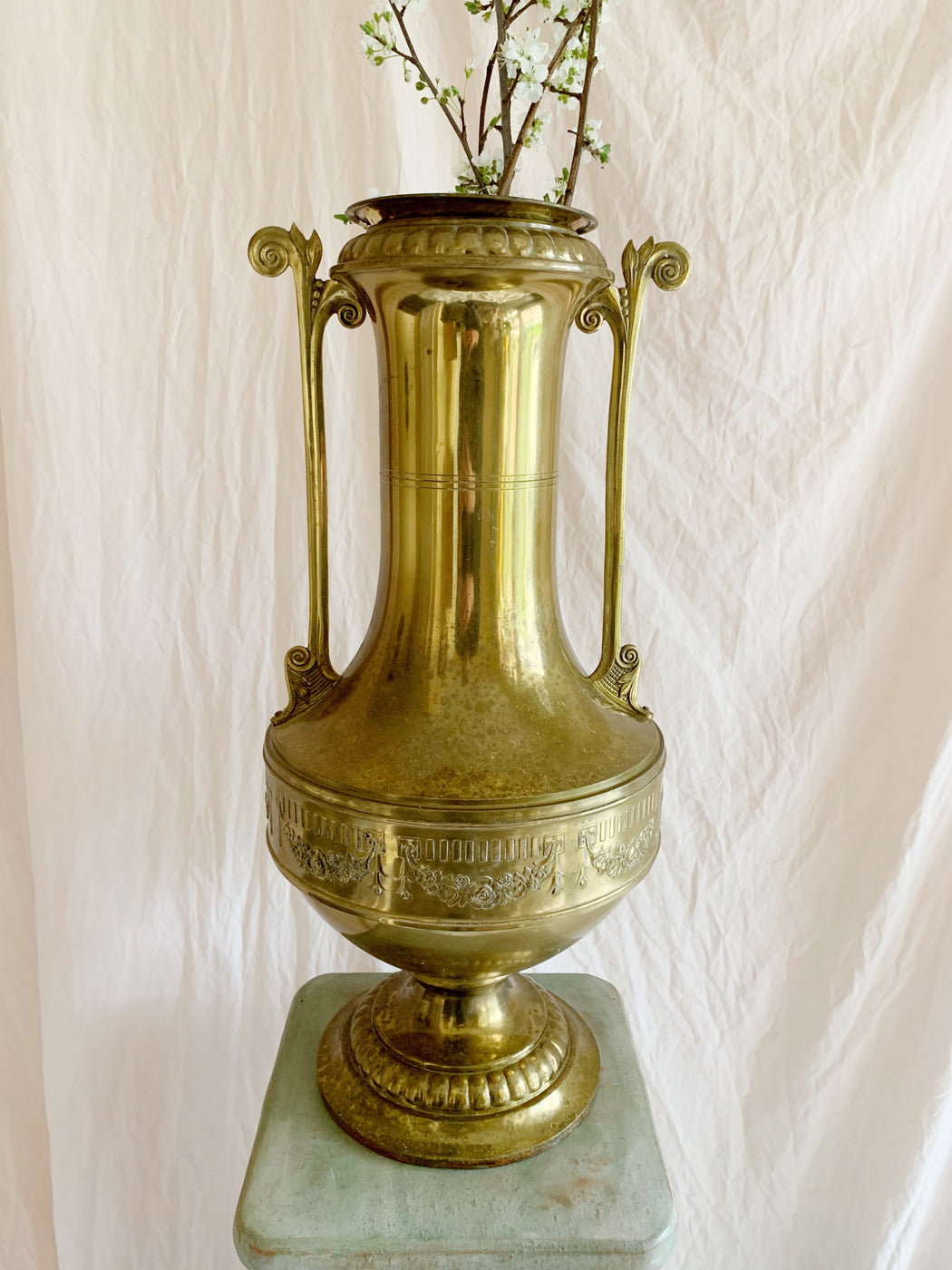 Grand Brass Vase - Storytellers Workshop