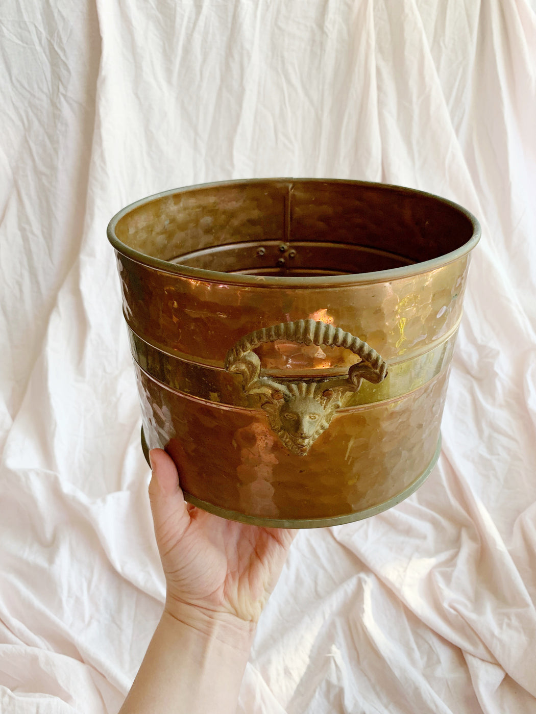 Large Copper and Brass Pot