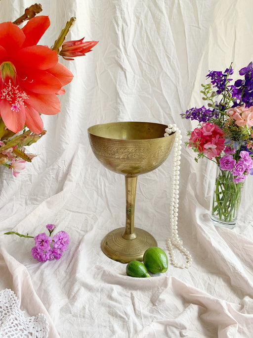 Large Brass Goblet | Storytellers Workshop