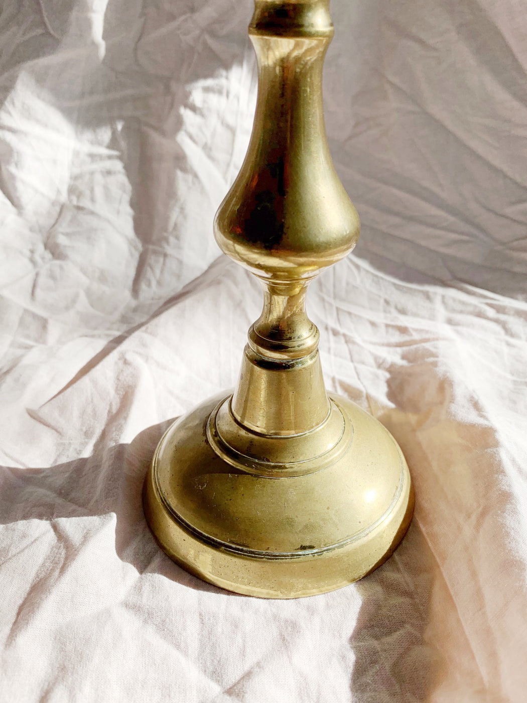 Medium Brass Candlestick Holder