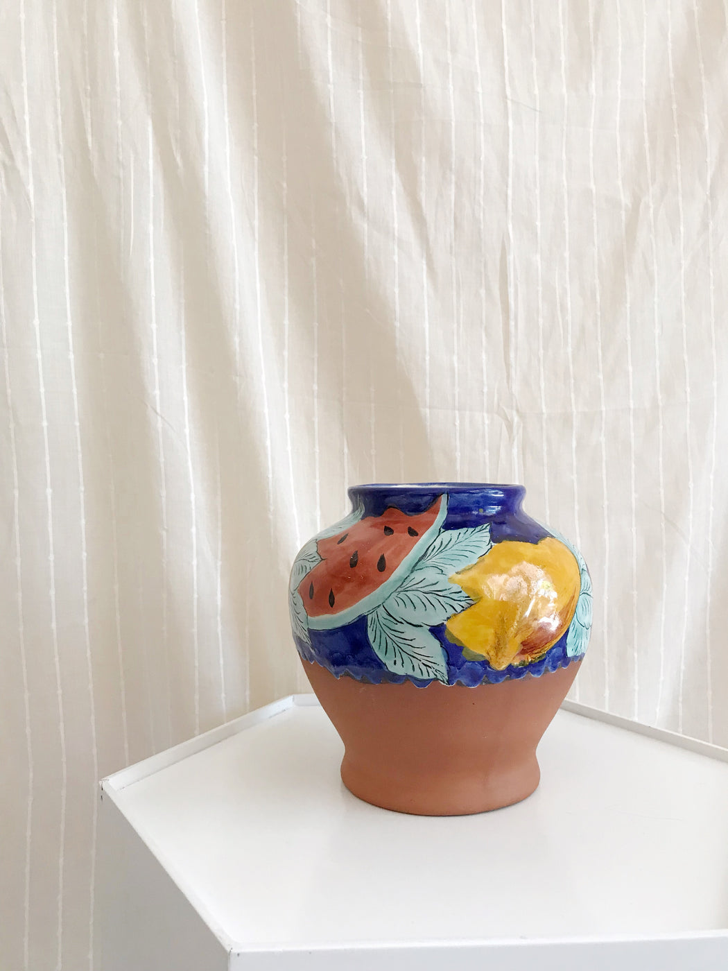 Watermelon Pottery Vase