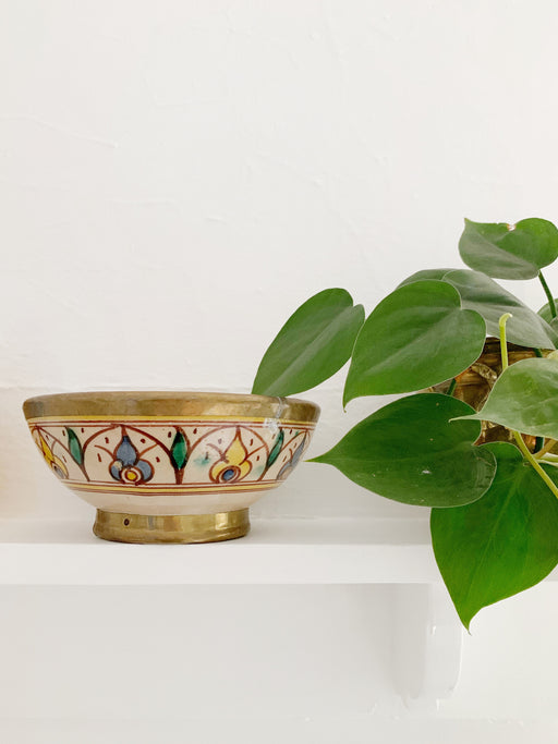 Hand-Painted Moroccan Pottery Bowl