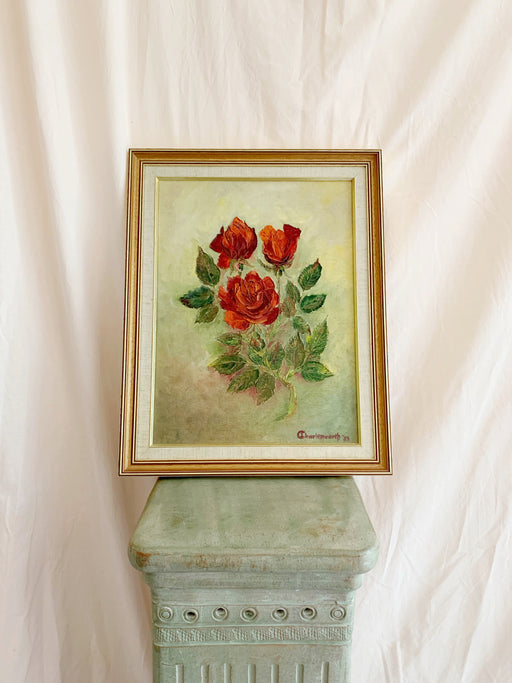 Framed Original Rose Painting - Storytellers Workshop