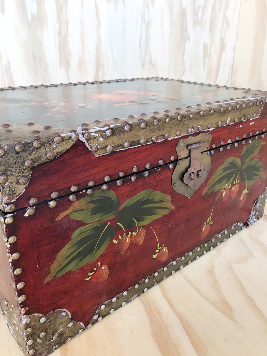 Hand-Painted Wooden Treasure Chest