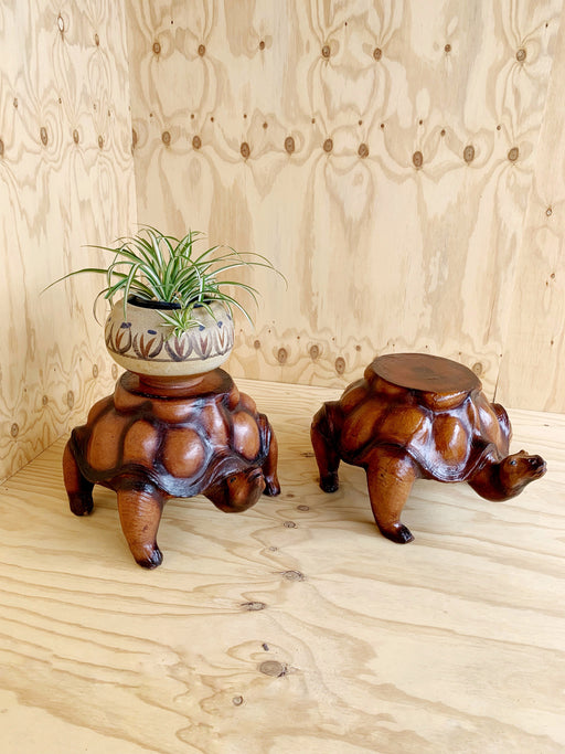 Pair of Tortoise Side Tables | Storytellers Workshop