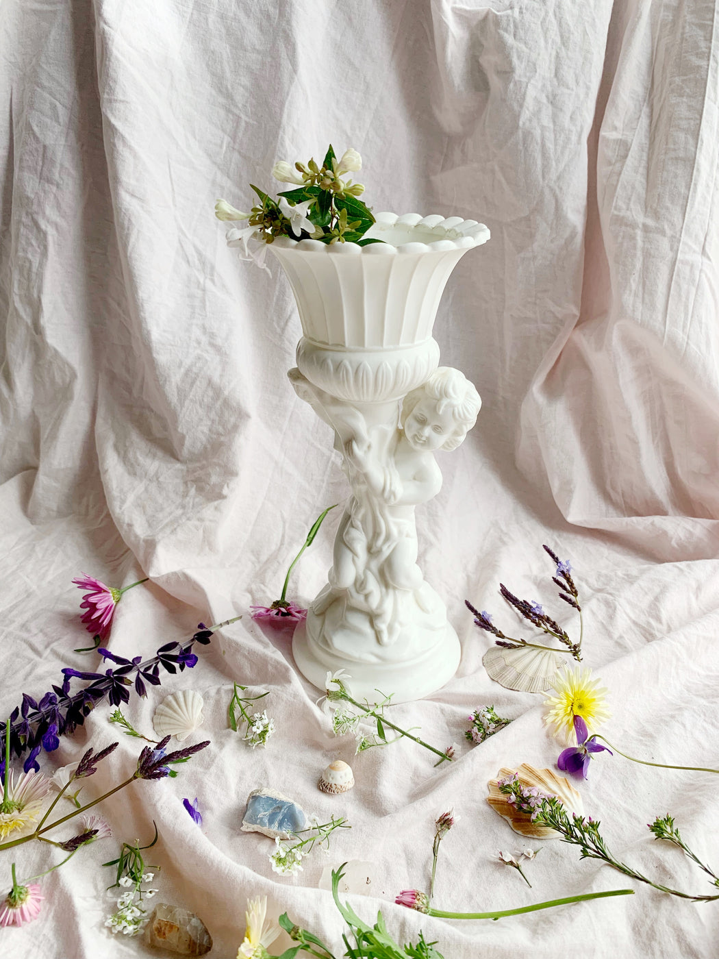 Plastic Cherub Plant Pot | Storytellers Workshop