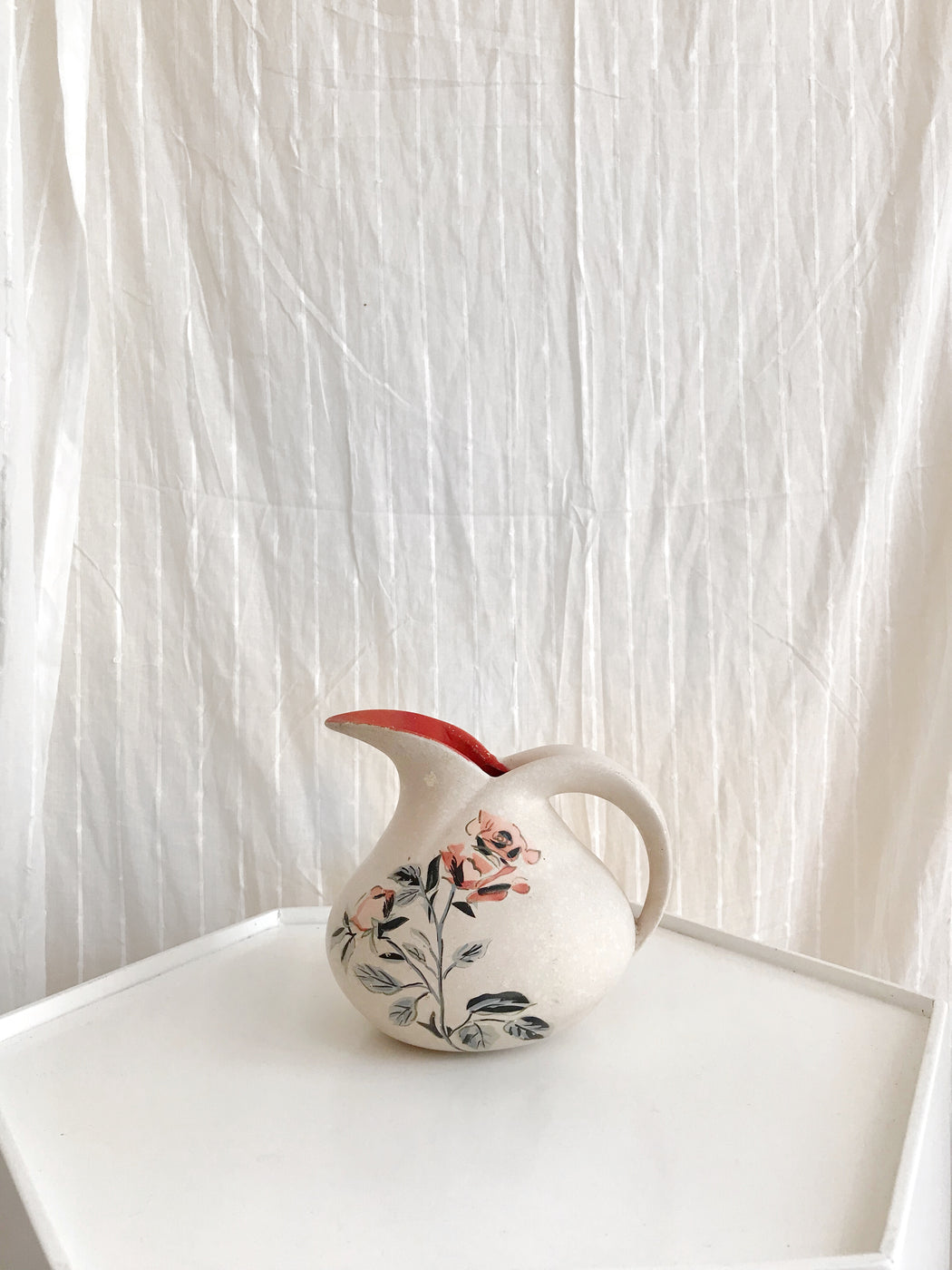 Pottery Vase with Roses