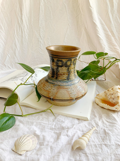 Drip Glazed Pottery Vase - Storytellers Workshop