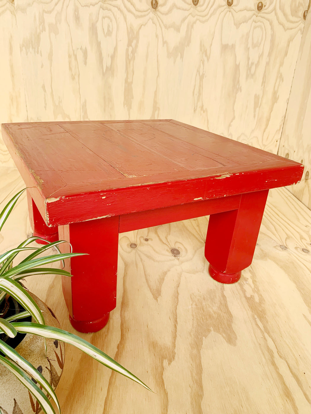 Rustic Red Side Table | Storytellers Workshop