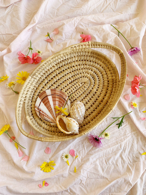 Woven Seagrass Basket Serving Tray