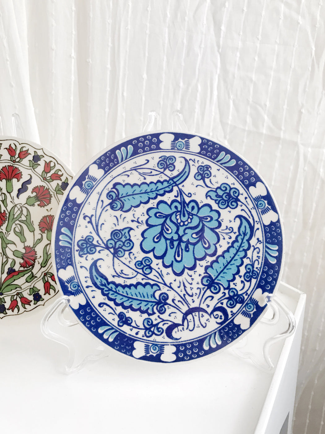 Set of Two Floral Wall Plates
