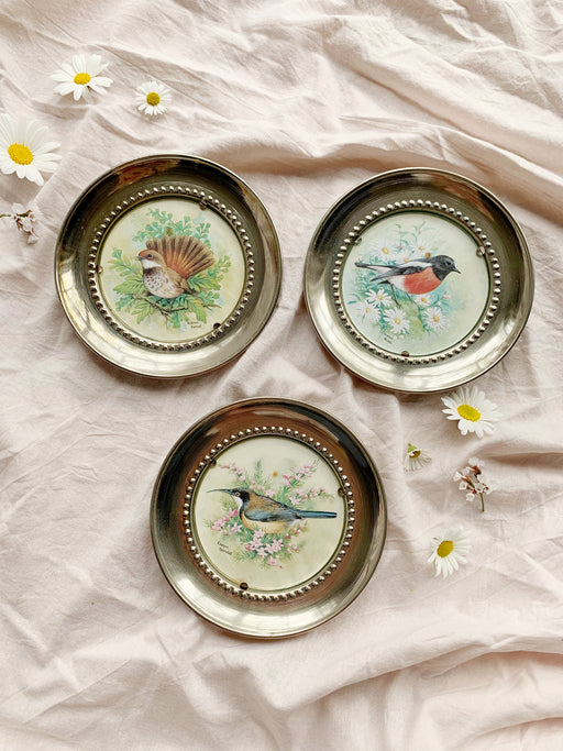Set of Three Bird Wall Plates
