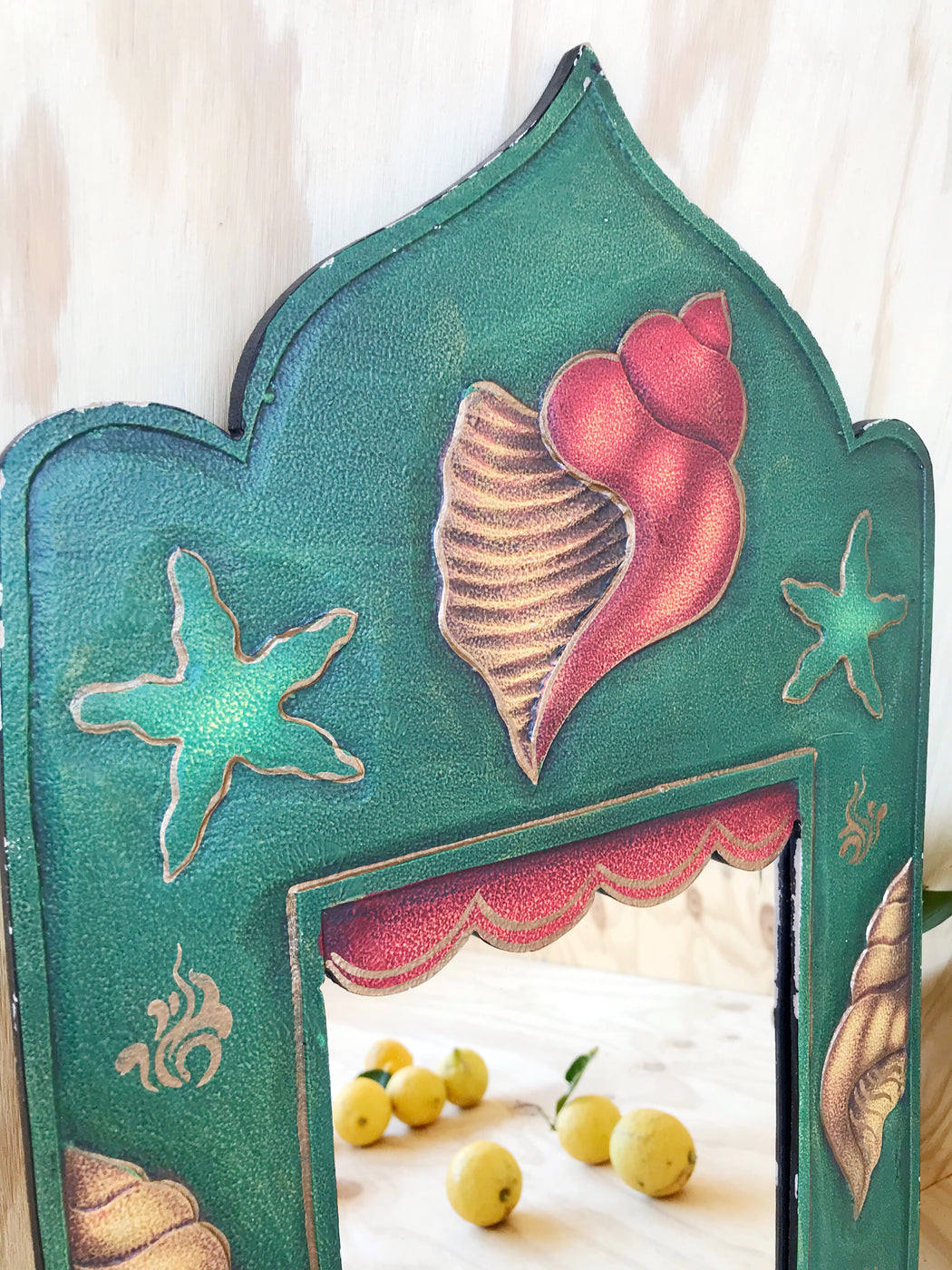Green Shell Mirror - Storytellers Workshop