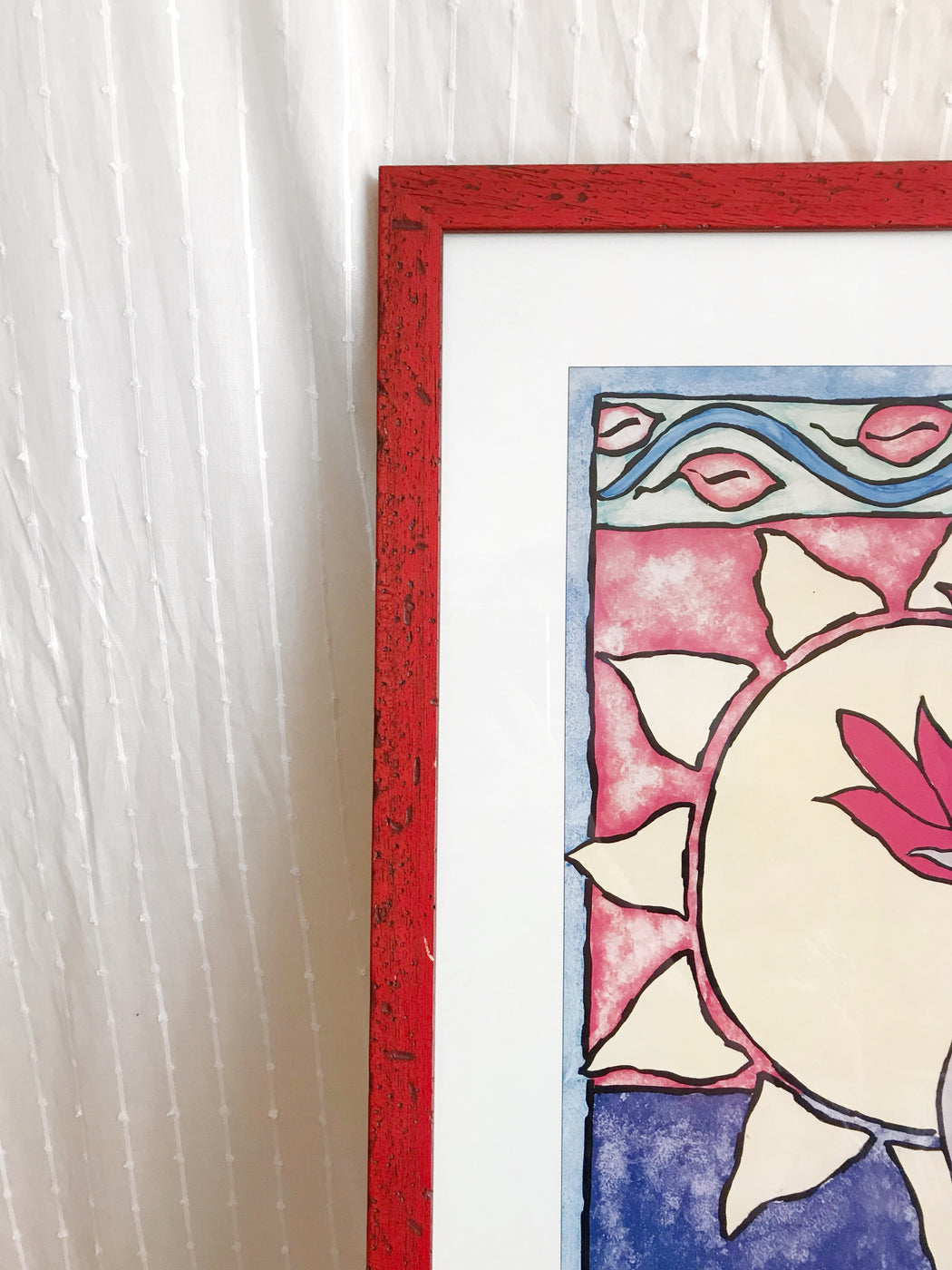 Sun and Vase Framed Art Print by Shellie Conway | Storytellers Workshop