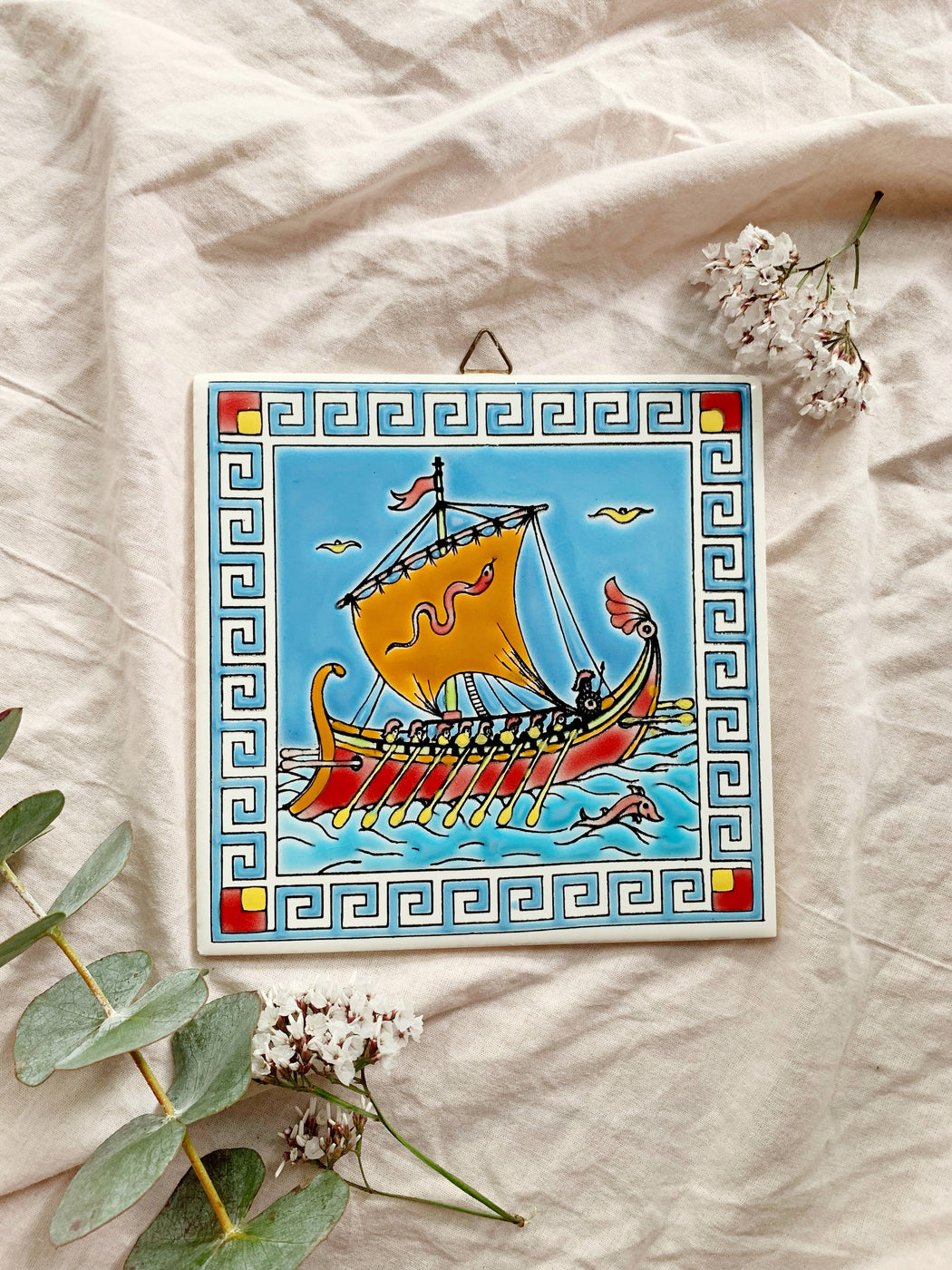 Sailing Ship Wall Hanging Tile