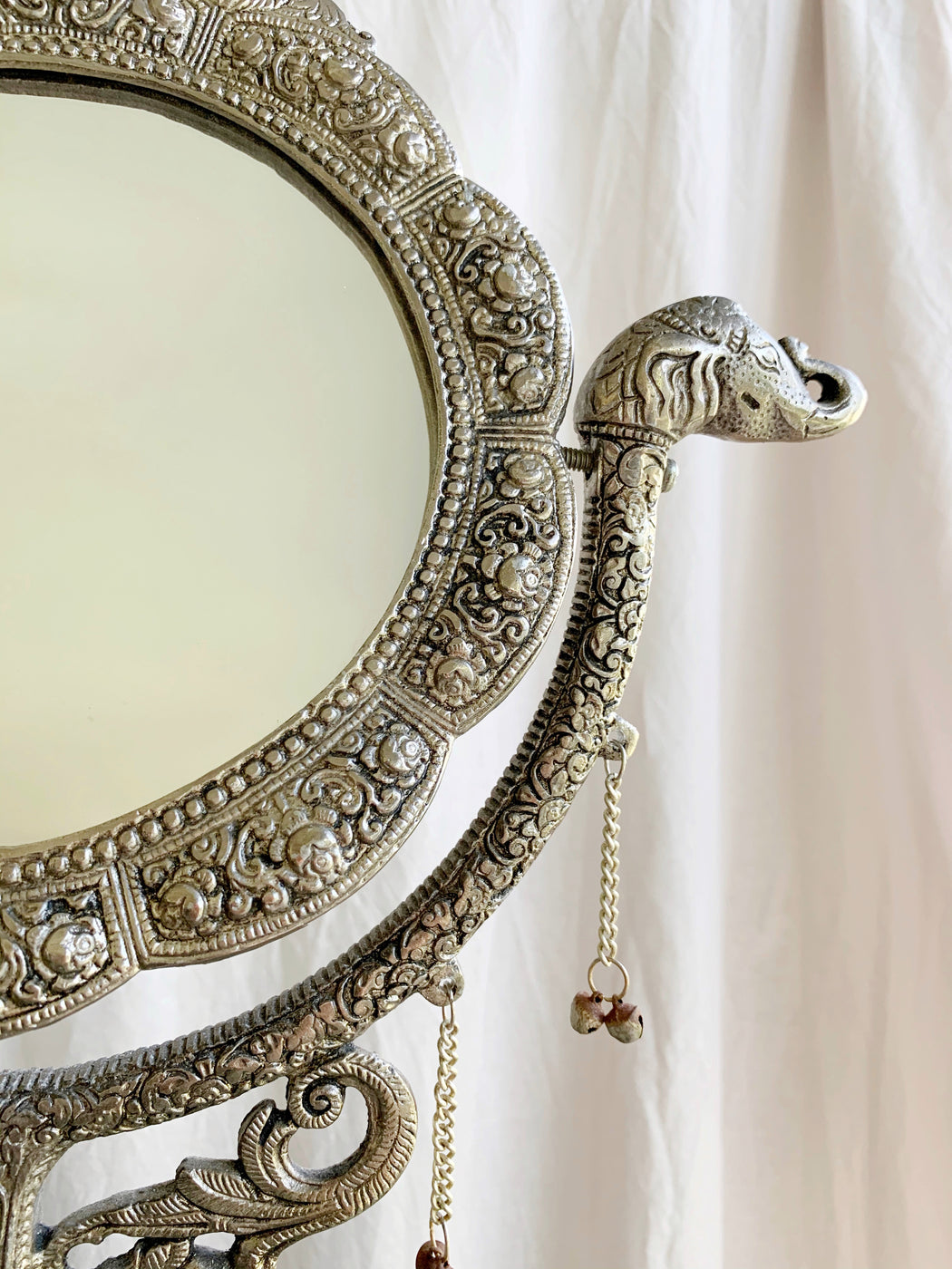 Silver Elephant Vanity Mirror | Storytellers Workshop