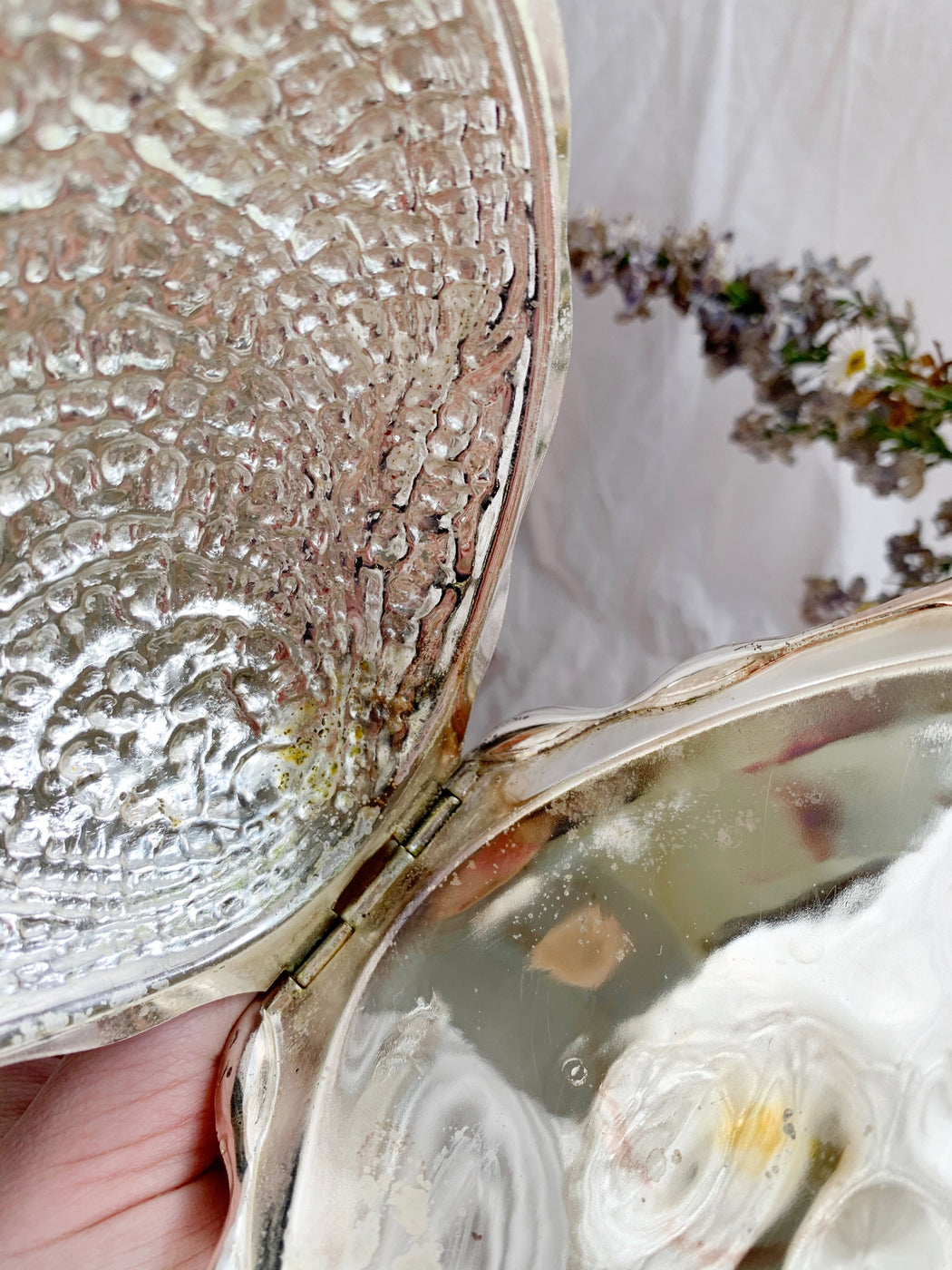 Silver Clam Shell Butter Dish | Storytellers Workshop