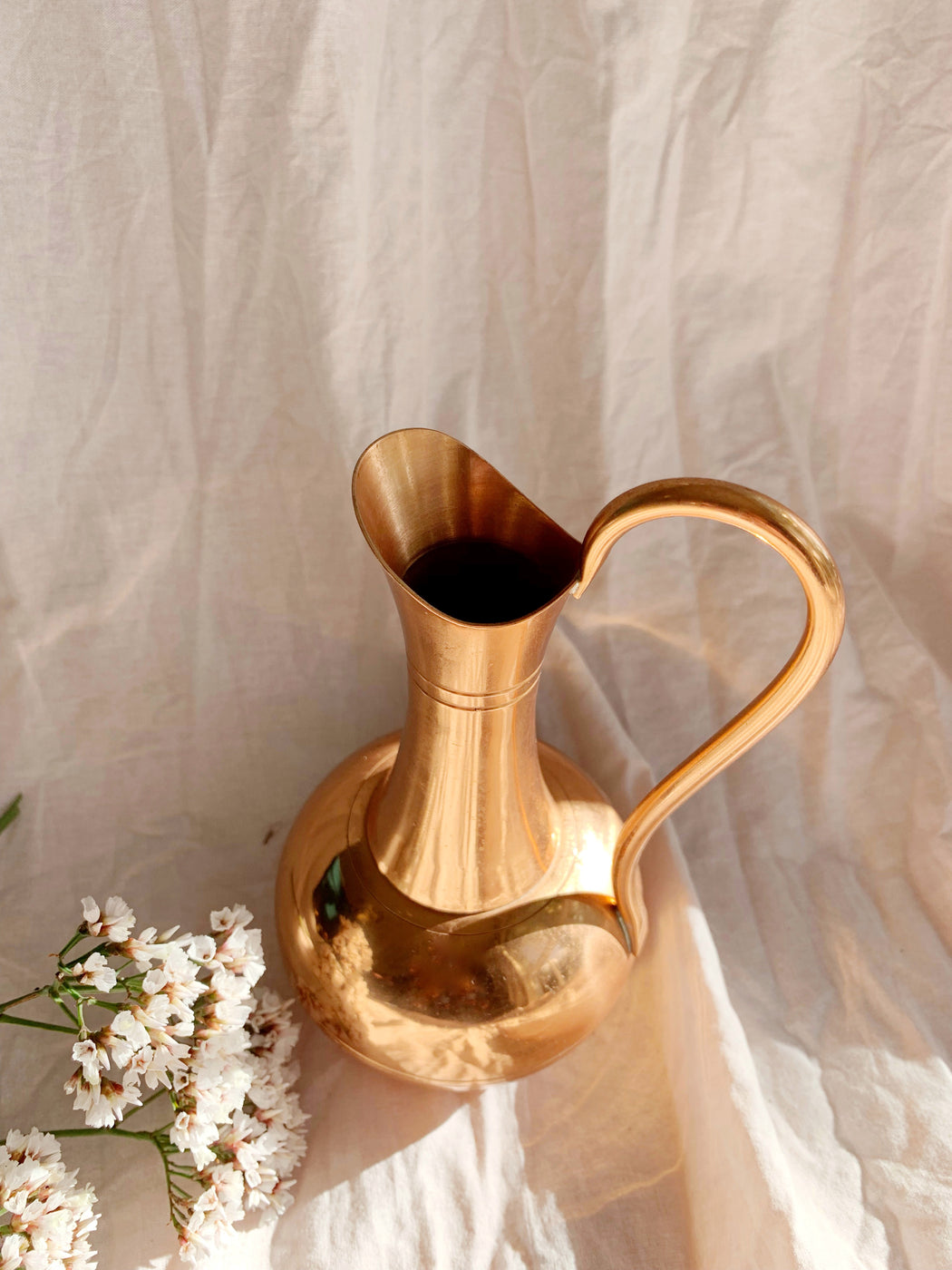 Small Solid Copper Vase