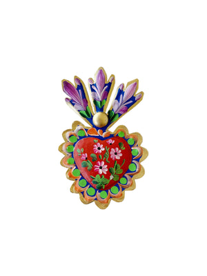 Small Floral Sacred Heart