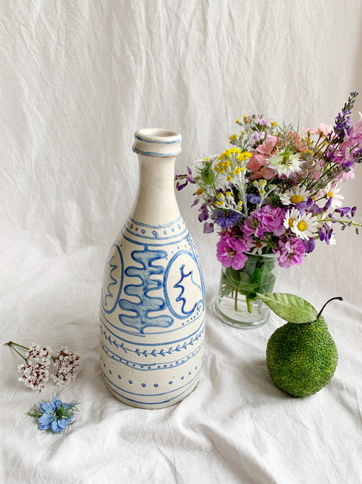 Blue and White Talavera Pottery Vase - Storytellers Workshop