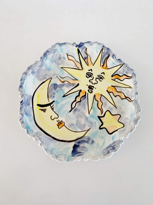 Vintage Sun and Moon Plate