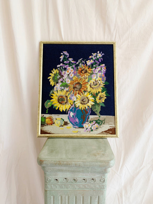 Framed Sunflower Cross-Stitch - Storytellers Workshop