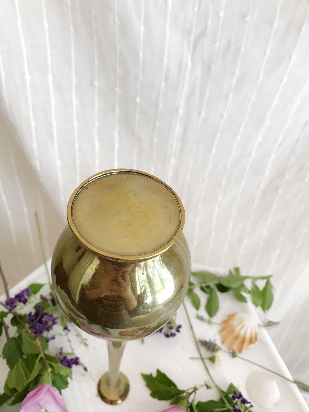 Tall Brass Vase | Storytellers Workshop